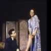 """Actors Barry Miller and Polly Draper in a scene from the Off-Broadway play """"Crazy He Calls Me"""" (New York)"""