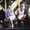 "Actors (L-R) Douglas Seale, Linda Thorson, Dorothy Loudon & Brian Murray in a scene fr. the Broadway production of the play ""Noises Off."" (New York)"
