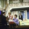 "Actors (L-R) Deborah Rush, Victor Garber, Dorothy Loudon, Linda Thorson, Paxton Whitehead & Brian Murray in a scene fr. the Broadway production of the play ""Noises Off."" (New York)"