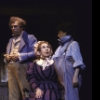 """Actors (L-R) Lenny Wolpe, Carmen Mathews and Evan Richards in a scene from the Broadway musical """"Copperfield."""" (New York)"""