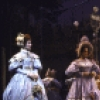 """Actors Leslie Denniston (L), Brian Matthews (2R) and Mary Elizabeth Mastrantonio (R) in a scene from the Broadway musical """"Copperfield."""" (New York)"""