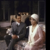 "Actors Deborah Rush & Charles Kimbrough in a scene fr. the Broadway revival of the play ""Hay Fever."" (New York)"