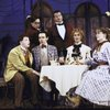 "Actors (L-R) Rob Kramer, Michael Hayden, Jim Fyfe, Jack Cirillo, Lisa Emery & Lisa Dove in a scene fr. the Roundabout Theater Co.'s production of the play ""The Matchmaker."" (New York)"