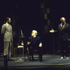 "Actors (L-R) Tom Wood, Jason Robards and Christopher Plummer in a scene from the Roundabout Theater Co.'s production of the play ""No Man's Land"" (New York)"