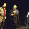 "Actors (L-R) Tom Wood, Christopher Plummer and John Seitz in a scene from the Roundabout Theater Co.'s production of the play ""No Man's Land"" (New York)"