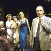 "Actors (L-R) Jeff Weiss, J. Smith-Cameron, Patricia Conolly, Jane Summerhays and Simon Jones in a scene from the Roundabout Theater Co.'s production of the play ""The Real Inspector Hound"" (New York)"
