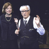 """Actors Debra Mooney and Eli Wallach in a scene from the Roundabout Theater Co.'s production of the play """"The Price """" (New York)"""