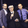 """Actors (L-R) Joe Spano, Eli Wallach and Hector Elizondo in a scene from the Roundabout Theater Co.'s production of the play """"The Price """" (New York)"""