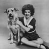 "Actress Andrea McArdle as Little Orphan Annie with her dog Sandy in a publicity photo for the Broadway musical ""Annie.""."