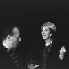New York City Ballet choreographer George Balanchine talking to Felia Dubrovska, former dancer and now teacher at the School of American Ballet (New York)