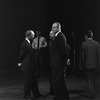 New York City Ballet, George Balanchine and Lincoln Kirstein talk with unidentified man (New York)