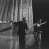 "New York City Ballet production of ""Native Dancers"" with George Balanchine and Patricia Wilde taking a bow in front of curtain, choreography by George Balanchine (New York)"