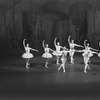 "New York City Ballet production of ""Divertimento No. 15"" with Michael Lland and Roy Tobias (front) and Jillana, Susan Borree, Patricia Wilde, Jonathan Watts, Judith Green and Allegra Kent, choreography by George Balanchine (New York)"