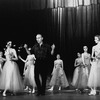 "New York City Ballet production of ""The Figure in the Carpet"" George Balanchine rehearsing dancers on stage, choreography by George Balanchine (New York)"
