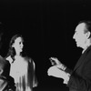 "New York City Ballet production of ""Night Shadow"" (later called ""La Sonnambula"") George Balanchine rehearses Allegra Kent and Erik Bruhn, choreography by George Balanchine (New York)"