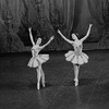 "New York City Ballet production of ""Divertimento No. 15"" with  Hester Fitzgerald and Carole Fields, choreography by George Balanchine (New York)"