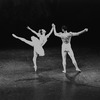 "New York City Ballet production of ""Valse et Variations"" (later ""Raymonda Variations"") with Patricia Wilde and Jacques d'Amboise, choreography by George Balanchine (New York)"