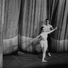"New York City Ballet production of ""Movements for Piano and Orchestra"" with Jacques d'Amboise and Suzanne Farrell taking a bow in front of the curtain, choreography by George Balanchine (New York)"