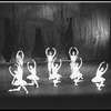 "New York City Ballet production of ""Divertimento No. 15"", Victoria Simon, Carol Sumner, Patricia Wilde, Mimi Paul and Suki Schorer, Robert Rodham, Anthony Blum, Earl Sieveling, choreography by George Balanchine (New York)"