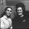 New York City Ballet dancer Maria Tallchief is visited backstage by Joan Sutherland (New York)