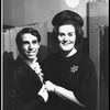 New York City Ballet dancer Anthony Blum is visited backstage by Joan Sutherland (New York)
