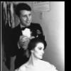 "New York City Ballet production of ""Dim Lustre"" costumer Beni Montressor with Patricia McBride in dressing room, choreography by Antony Tudor (New York)"