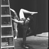 "New York City Ballet production of ""The Cage""; Karin von Aroldingen warms up backstage, choreography by Jerome Robbins (New York)"