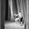 "New York City Ballet production of ""Tarantella"" Edward Villella and Suki Schorer take a bow in front of curtain, choreography by George Balanchine (New York)"