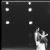 """New York City Ballet production of """"Tchaikovsky Pas de Deux"""" Patricia McBride and Jacques d'Amboise take a bow, choreography by George Balanchine (New York)"""
