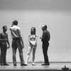 "New York City Ballet production of ""Metastaseis and Pithoprakta"" George Balanchine talks with Arthur Mitchell and Suzanne Farrell at dress rehearsal, choreography by George Balanchine (New York)"