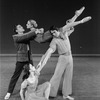 """New York City Ballet production of """"Fantasies"""" with Kay Mazzo and Anthony Blum in front, Sara Leland, Conrad Ludlow behind, choreography by John Clifford (New York)"""