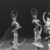 "New York City Ballet production of ""Ballet Imperial"" with Patricia McBride and Conrad Ludlow, Suki Schorer kneeling, choreography by George Balanchine (New York)"