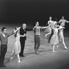 "New York City Ballet production of ""Dances at a Gathering"" with dancers and Jerome Robbins taking a bow, choreography by Jerome Robbins (New York)"