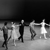 """New York City Ballet production of """"Dances at a Gathering"""" with dancers and Jerome Robbins taking a bow, choreography by Jerome Robbins (New York)"""