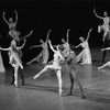 "New York City Ballet production of ""Tschaikovsky suite no. 1"", (""Reveries""), with Gelsey Kirkland and Anthony Blum (R), Johnna Kirkland and Conrad Ludlow (L), choreography by John Clifford (New York)"