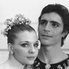 "New York City Ballet production of ""Theme and variations"" close-up of Gelsey Kirkland and Edward Villella in costume, choreography by George Balanchine (New York)"