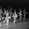 "New York City Ballet production of ""The Goldberg Variations"" with Sara Leland, Karin von Aroldingen and Patricia McBride, choreography by Jerome Robbins (New York)"
