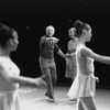 "New York City Ballet production of ""Chopiniana"", George Balanchine and Alexandra Danilova on stage directing dancers, staged by Alexandra Danilova after Michel Fokine (New York)"