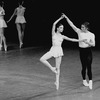 "New York City Ballet production of ""Concerto Barocco"" with Allegra Kent and Conrad Ludlow, choreography by George Balanchine (New York)"