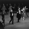 "New York City Ballet production of ""An Evening's Waltzes"", Jerome Robbins and conductor Robert Irving take a bow with dancers, choreography by Jerome Robbins (New York)"