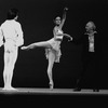 "New York City Ballet production of ""Ballo della Regina"" with George Balanchine rehearsing Merrill Ashley and Robert Weiss, choreography by George Balanchine (New York)"
