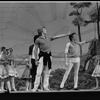"New York City Ballet Production of ""The Magic Flute"", Peter Martins demonstrates to dancers, choreography by Peter Martins (New York)"