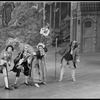 "New York City Ballet Production of ""The Magic Flute"", with (2L-R) Bruce Padgett as the Marquis, Florence Fitzgerald as Farmer's Wife, and Frank Ohman as the Farmer, choreography by Peter Martins (New York)"