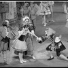 """New York City Ballet Production of """"The Magic Flute"""" with Katrina Killian as Lise, Florence Fitzgerald and Frank Ohman as her parents and Bruce Padgett as the Marquis, choreography by Peter Martins (New York)"""