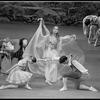 """New York City Ballet production of """"The Magic Flute"""" Nina Fedorova with Katrina Killian and David McNaughton, choreography by Peter Martins (New York)"""