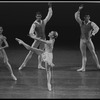 """New York City Ballet production of """"Seven by Five"""" with Lauren Hauser (center), Lisa Hess, Peter Frame and David Otto, choreography by Bart Cook (New York)"""