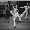 """New York City Ballet production of """"Fancy Free"""" with Stephanie Saland, Joseph Duell, Kipling Houston and Jean-Pierre Frohlich, choreography by Jerome Robbins (New York)"""