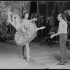 """New York City Ballet production of movie version of """"A midsummer Night's Dream"""" with George Balanchine rehearsing Nicholas Magallanes and Patricia McBride, choreography by George Balanchine (New York)"""