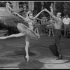 """New York City Ballet production of movie version of """"A midsummer Night's Dream""""; George Balanchine rehearsing Patricia McBride, choreography by George Balanchine (New York)"""