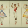 """New York City Ballet production of """"Tricolore"""", costume sketches by designer Rouben Ter-Arutunian (New York)"""